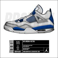 "Air Jordan 4 Retro ""Military"" by BBoyKai91"