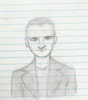 ninth doctor - sketch by pocketsterling