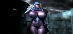 Psylocke peril: Out of the Darkness alternate by Tazirai
