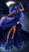 Princess Luna - the beauty of the night by zaameen