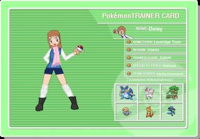 Pokemon trainer Daisy (trainer card) by Chibi-Rainbow