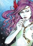 ACEO Mermaid with lights by Aiko282