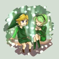 Link and Saria by Ardhes