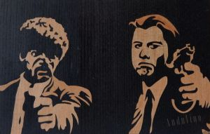 Pulp Fiction marquetry to order by Andulino