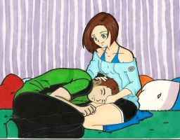 Jill and Chris Sleep by LeonandClaireBSAA