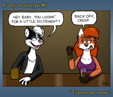 Furry Stereotype: Vixens by stevethepocket