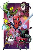 Spider-Time - Collab w Mike Vasquez by JoeHoganArt