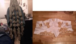WIP of the day 11 - Ginka wig and Mordred again by simakai