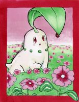Chikorita artwork by karookachoo