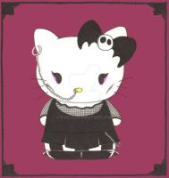Goth Hello Kitty by Kveld