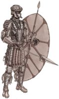 amaZulu Shield Warrior by grendeljd