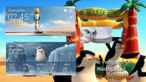 The Penguins Of Madagascar Widgets for xwidget by jimking