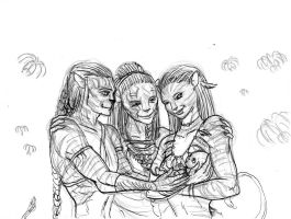 Avatar Fan art - Jake and Neytiri have a baby by Beb156