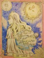 Mavis-Fairy Tail-Tarot Card by 67Luna