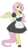 Maid Fluttershy by Sugarcup91