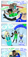 Super Ultra Busty Sexy Skydiving Fun Comic by Elizuke94