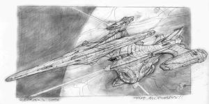 Trek, Starfleet Heavy Cruiser by Richard-Daborn