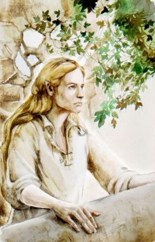 Finrod in Nargothrond by tuuliky