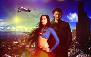 Supergirl and Superman by MonadaM