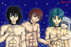 4 hot boys -animated- by duelme2