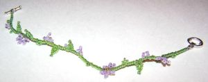 Purple and Green Bracelet by solitarymuse