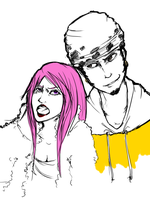 Bonney and Law by Szashaa