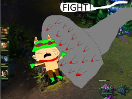 Teemo Getting Ruthelessly Crushed by Sion by PixTron-the-Pixel