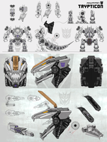 Trypticon concept art (WFC) by BaganSmashBros
