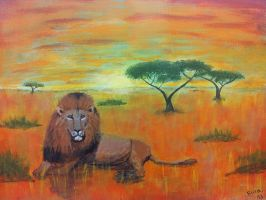 Lion in Africa by sophicardia
