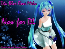 Tda Blue Rose Miku - DL - by IlianaCordan
