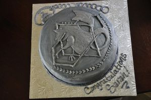 FMA Pocketwatch Cake by xKiGO