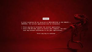 red error dinosaur by femfoyou