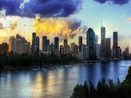 Brisbane HDR wallpaper by waste84