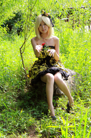 Cosplay- Kagamine Rin (Servant of Evil ver.) by CinnamonRing