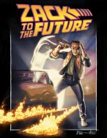 Zack To The Future: Zack Ryder Print by MarkPoulton