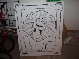 Alex the Lion by Maus by billmausart