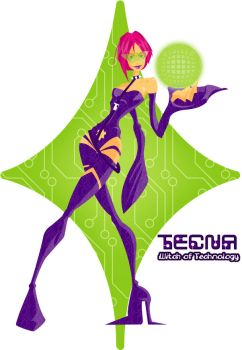 tecna witch of technology by actionfigure