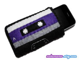 Cassette Tape Gadget Case by nokomomo