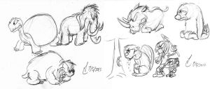 More Pleistocene Creatures by SteLo-Productions95