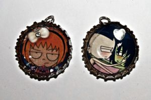 Bottle Cap Charm Prototypes by Reitanna-Seishin