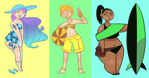 100 points/$1 Beach Babes (CLOSED) by FavfiAdopts