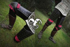 Splinted thighs armor by Noir-Azur