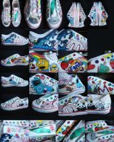 customized shoes by tofuofdoom