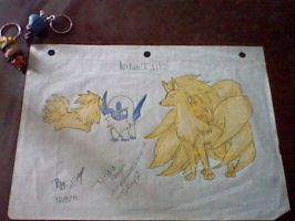 ninetails drawing by Dimitra012
