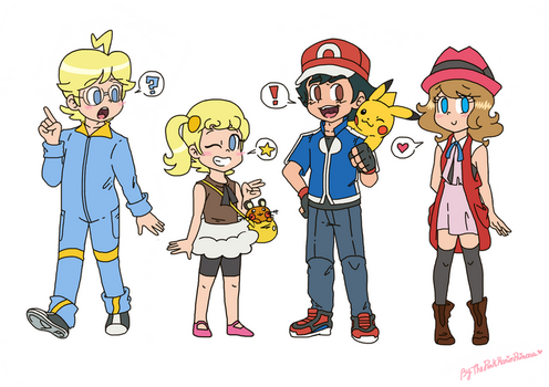 .:Doodles: The XY cast:. by ThePinkMarioPrincess