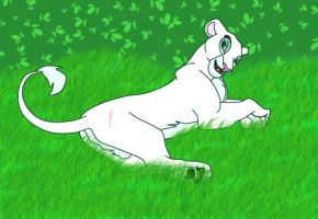 Taka all grow up and laying in the grassy lands by lostdreams1