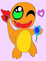 Charmander: Want This Flower? by Kemoton-Zurisan