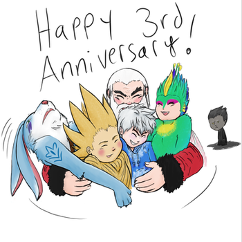 Rise of the Guardians 3rd ANNIVERSARY!  by Frostplay