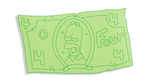 Homer's counterfeit money by WilliamFreeman