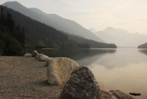 Lake and Rocks by ElevenSpecial